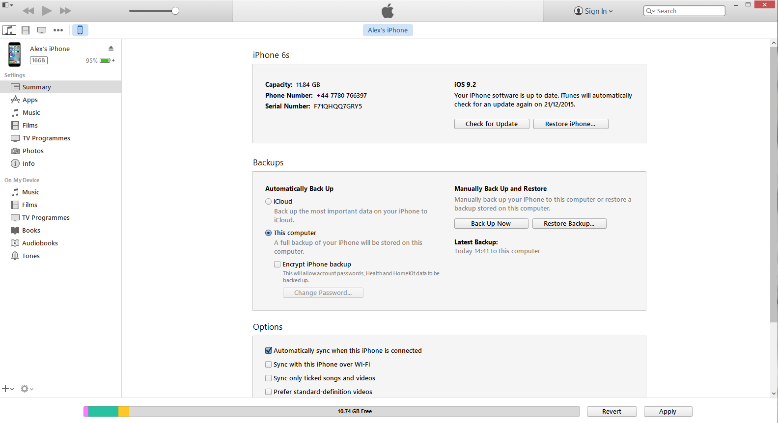 itunes screen 3