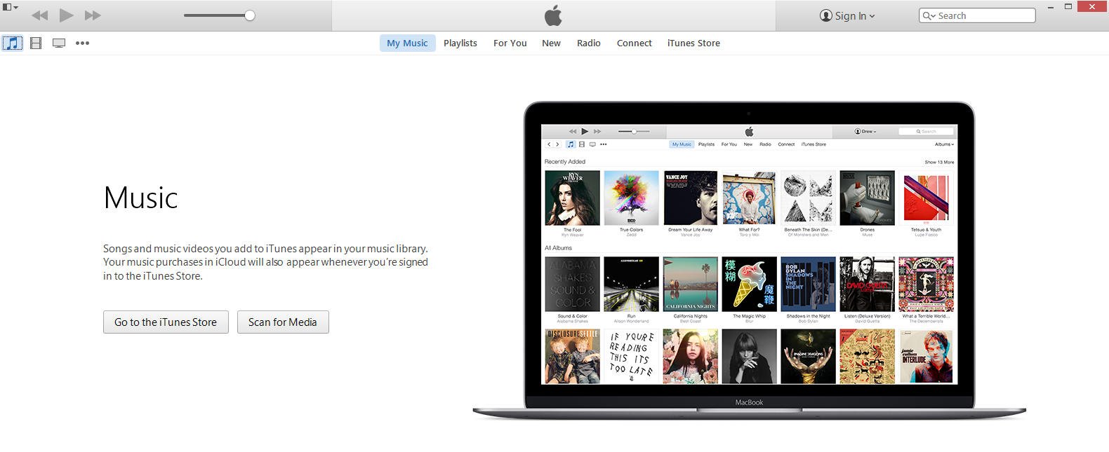 itunes screen